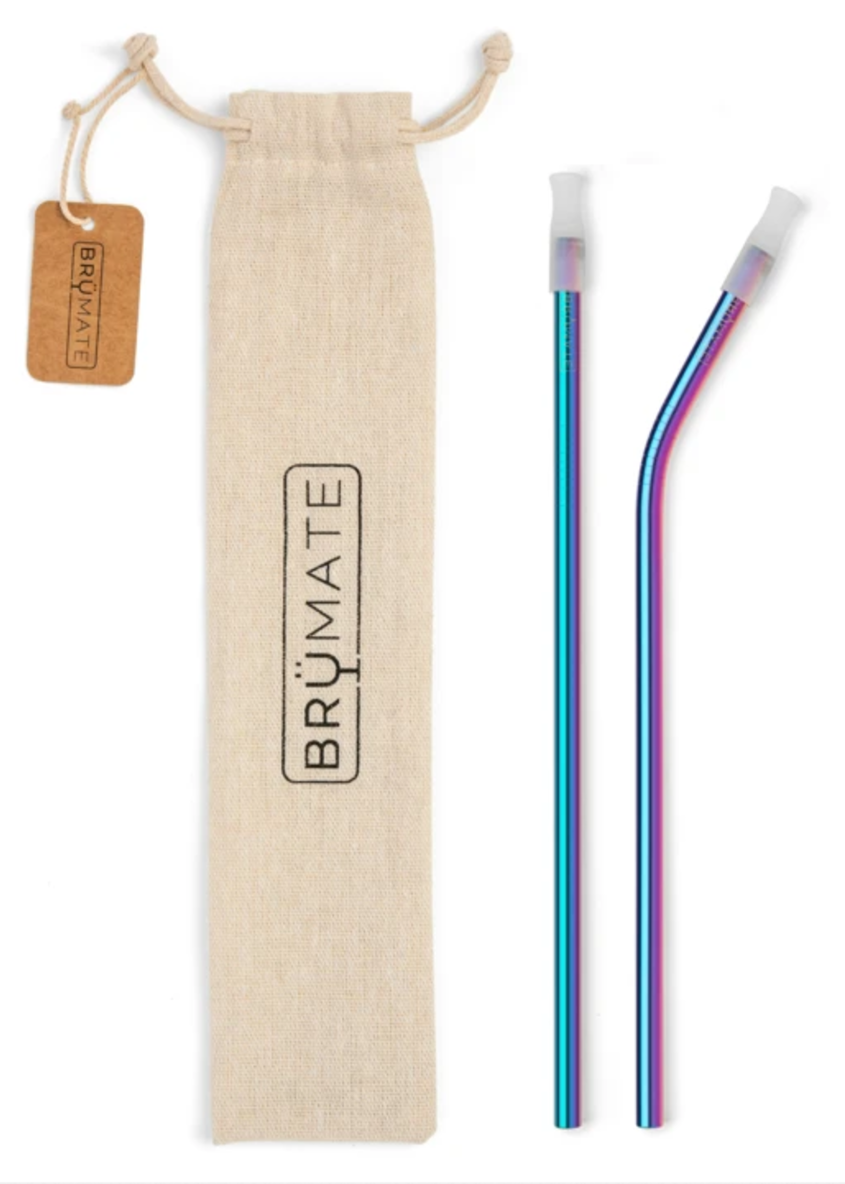 Brumate Stainless Steel Reusable Straw - Rainbow Titanium