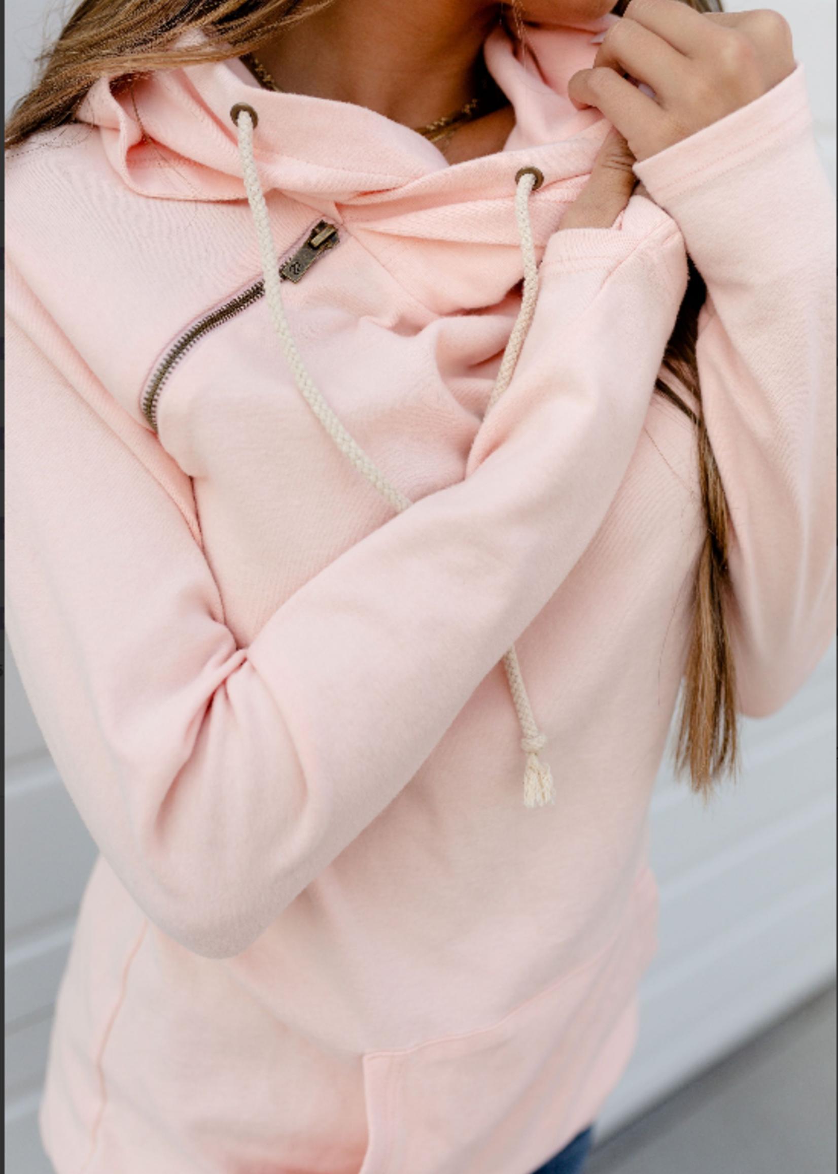 Ampersand Avenue Basic Doublehood Sweatshirt - Rose Quartz