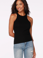 Bobi Ribbed Tank - Black