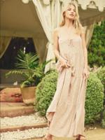 Floral Tiered Maxi Dress - Blush sand