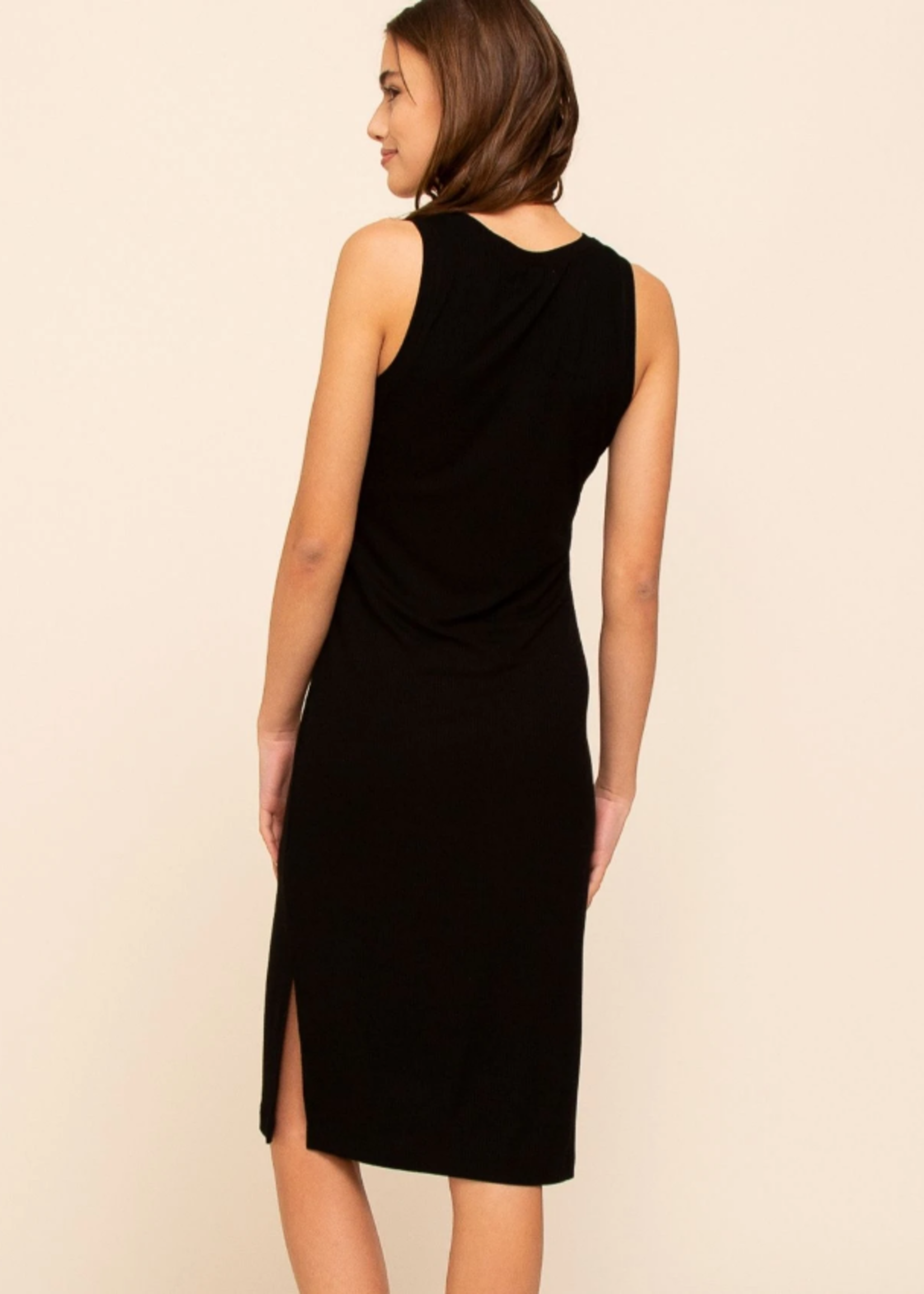 Thread & Supply Seaview Ribbed Dress - Black