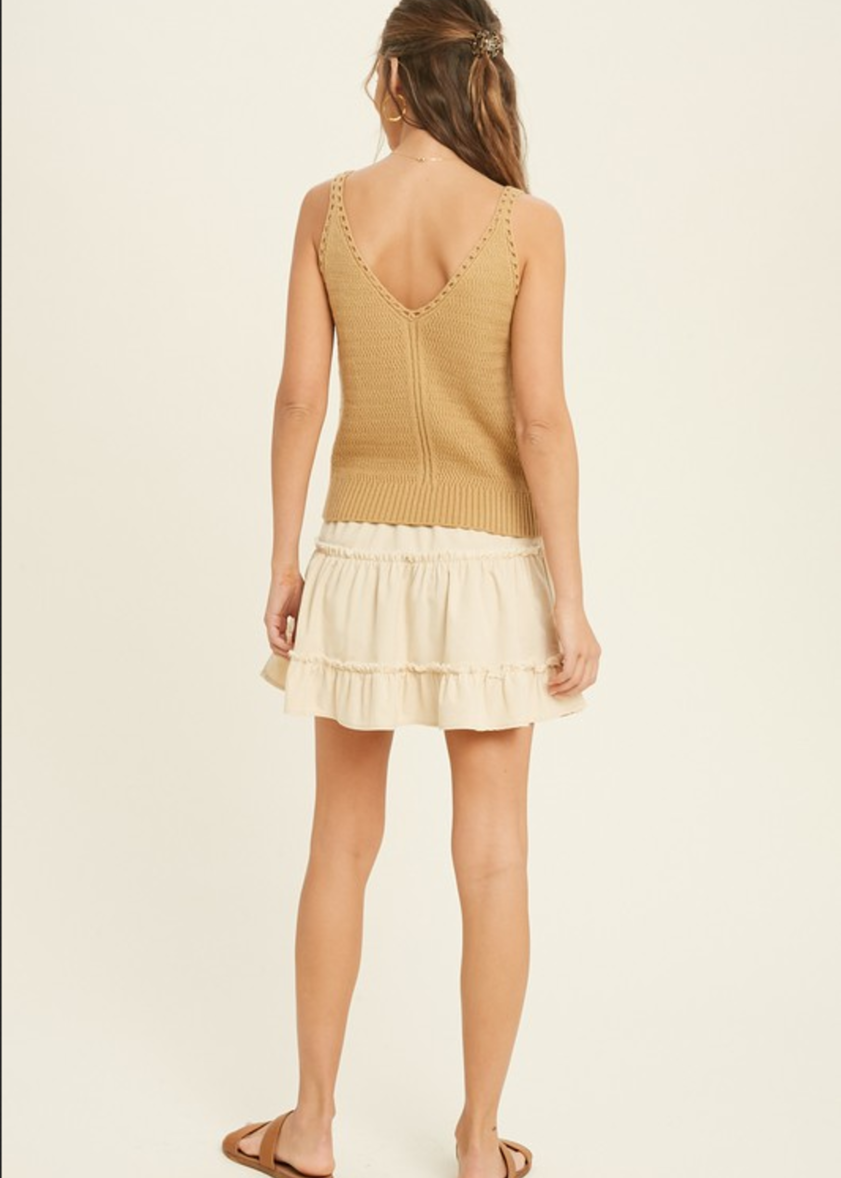 Sweater Knit Tank - Camel