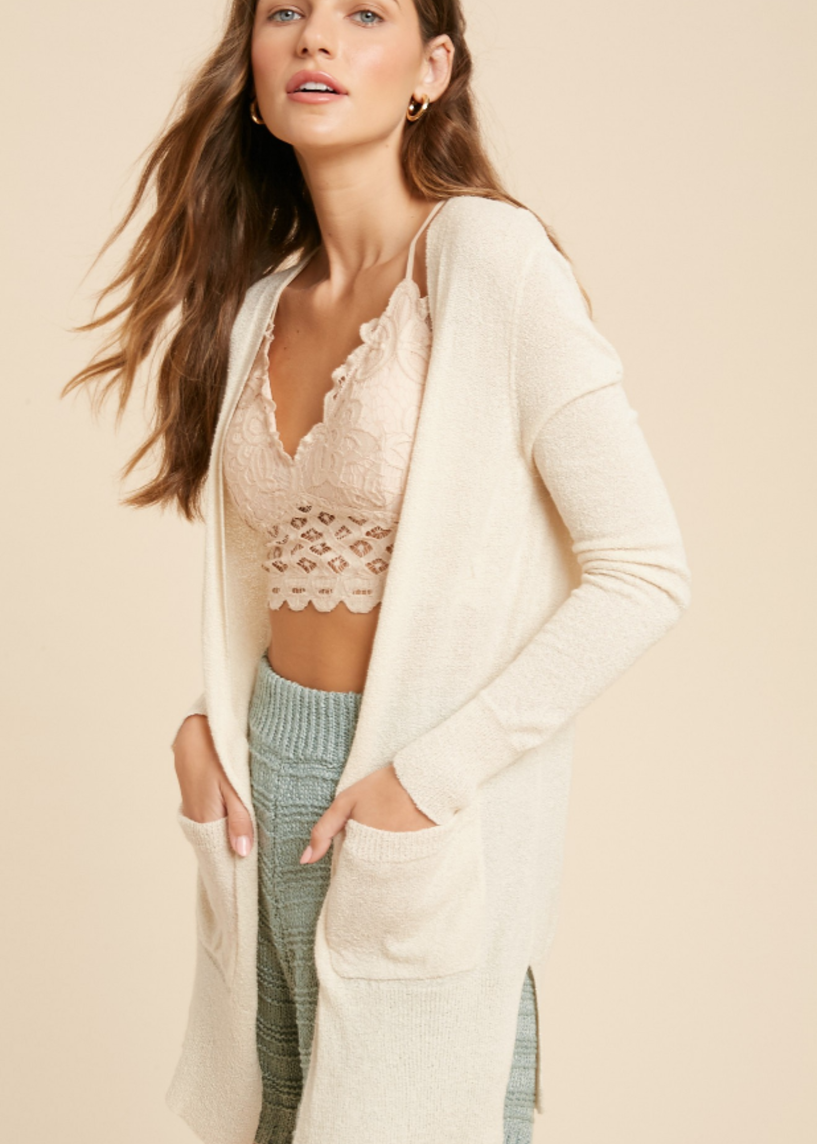 Long Sleeve Cardigan - Cream