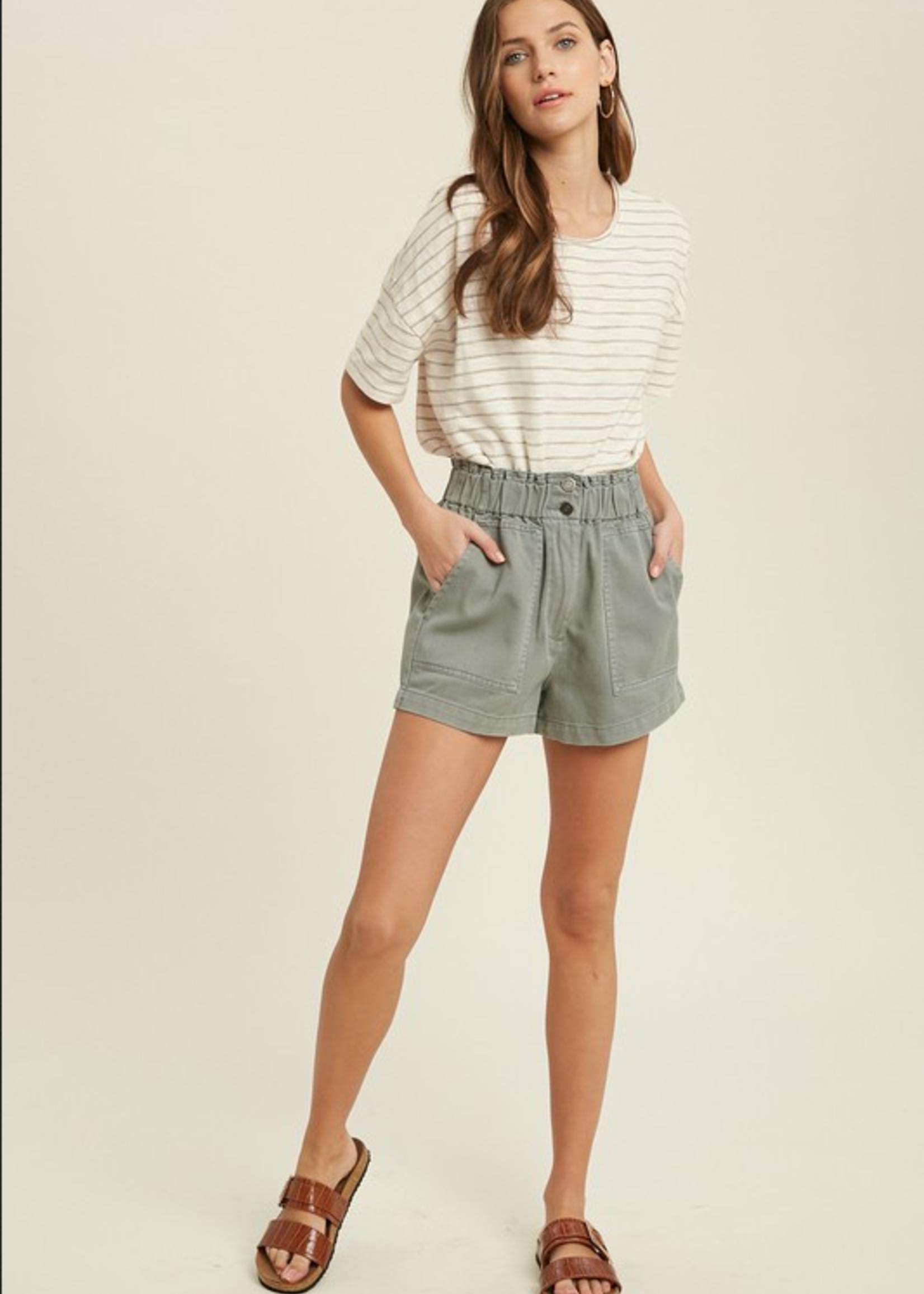 Paperbag Shorts - Olive