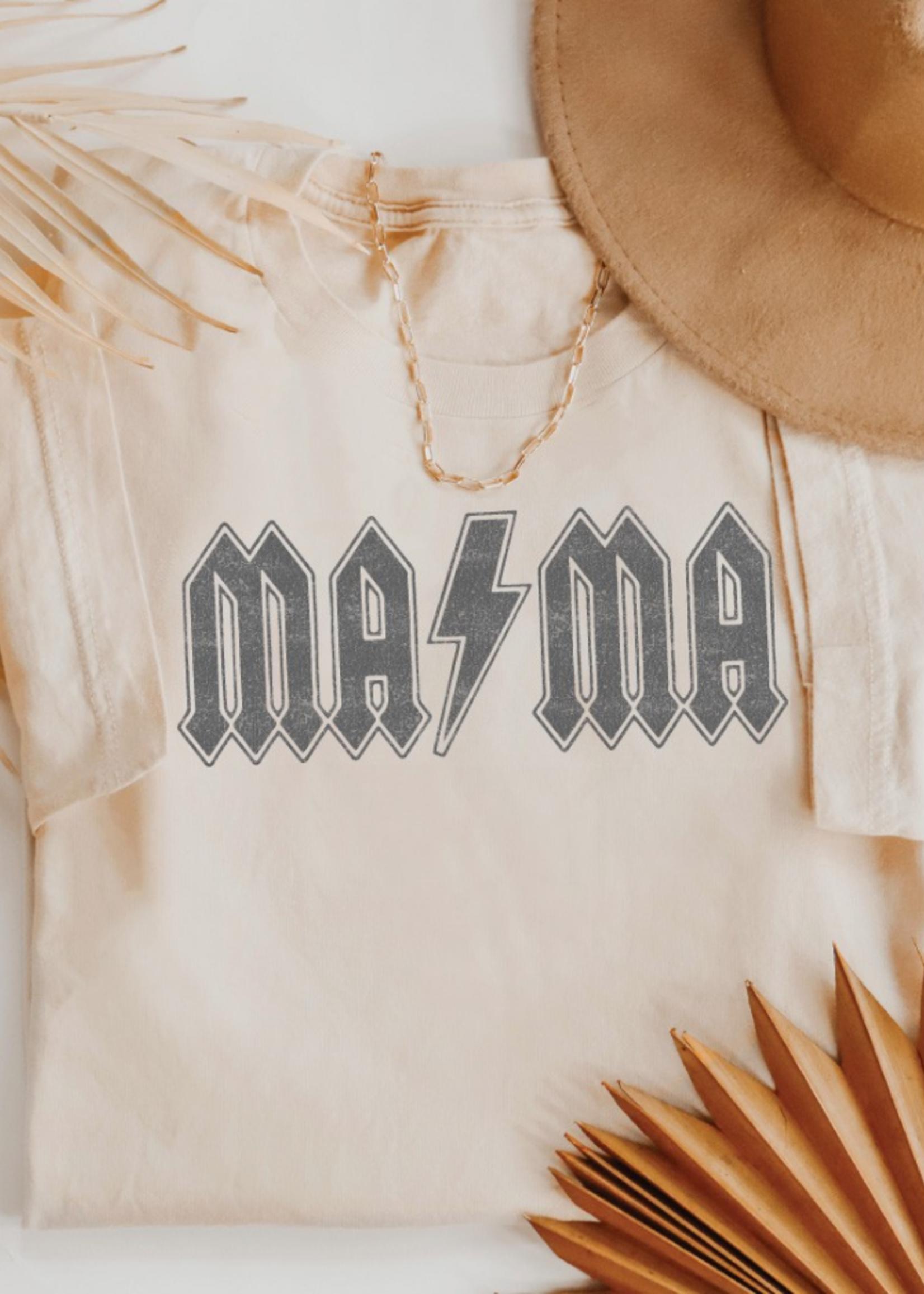 Mama Graphic Tee - Natural