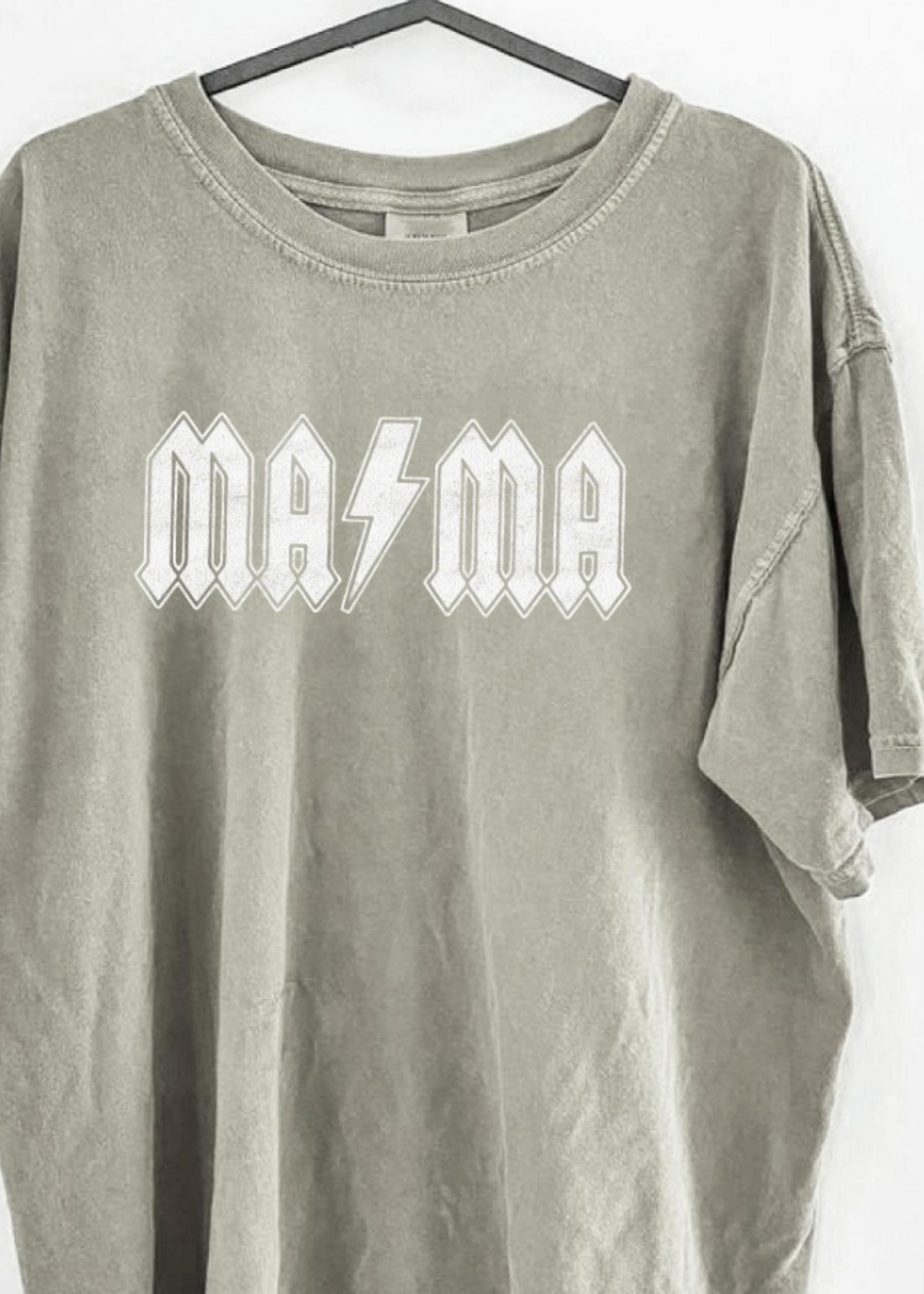Mama Graphic Tee Vintage Wash - Sandstone