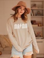 Mama Graphic Sweatshirt - Tan