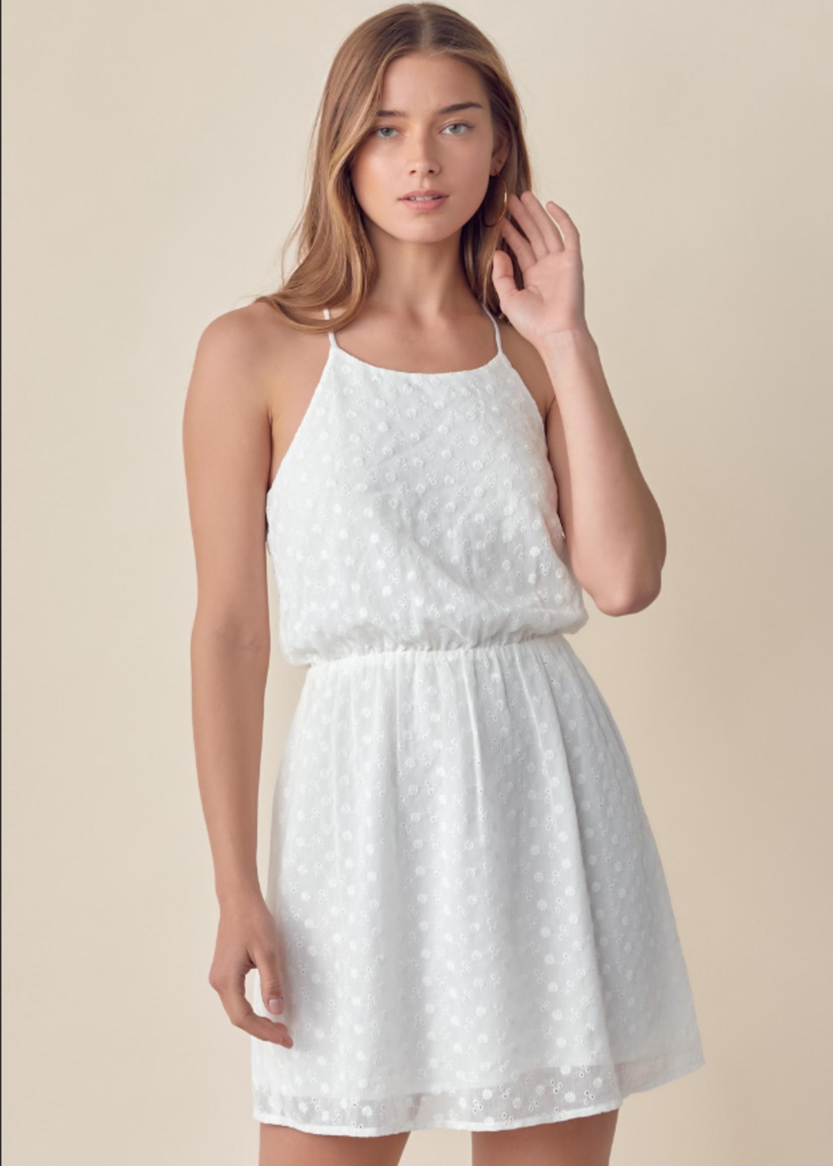 Eyelet Racerback Dress - White