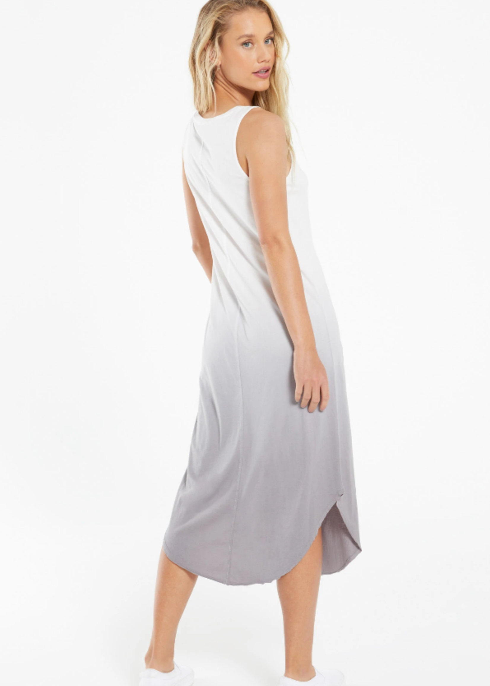 Z Supply Reverie Scoop Dip Dye Dress - Soft Grey