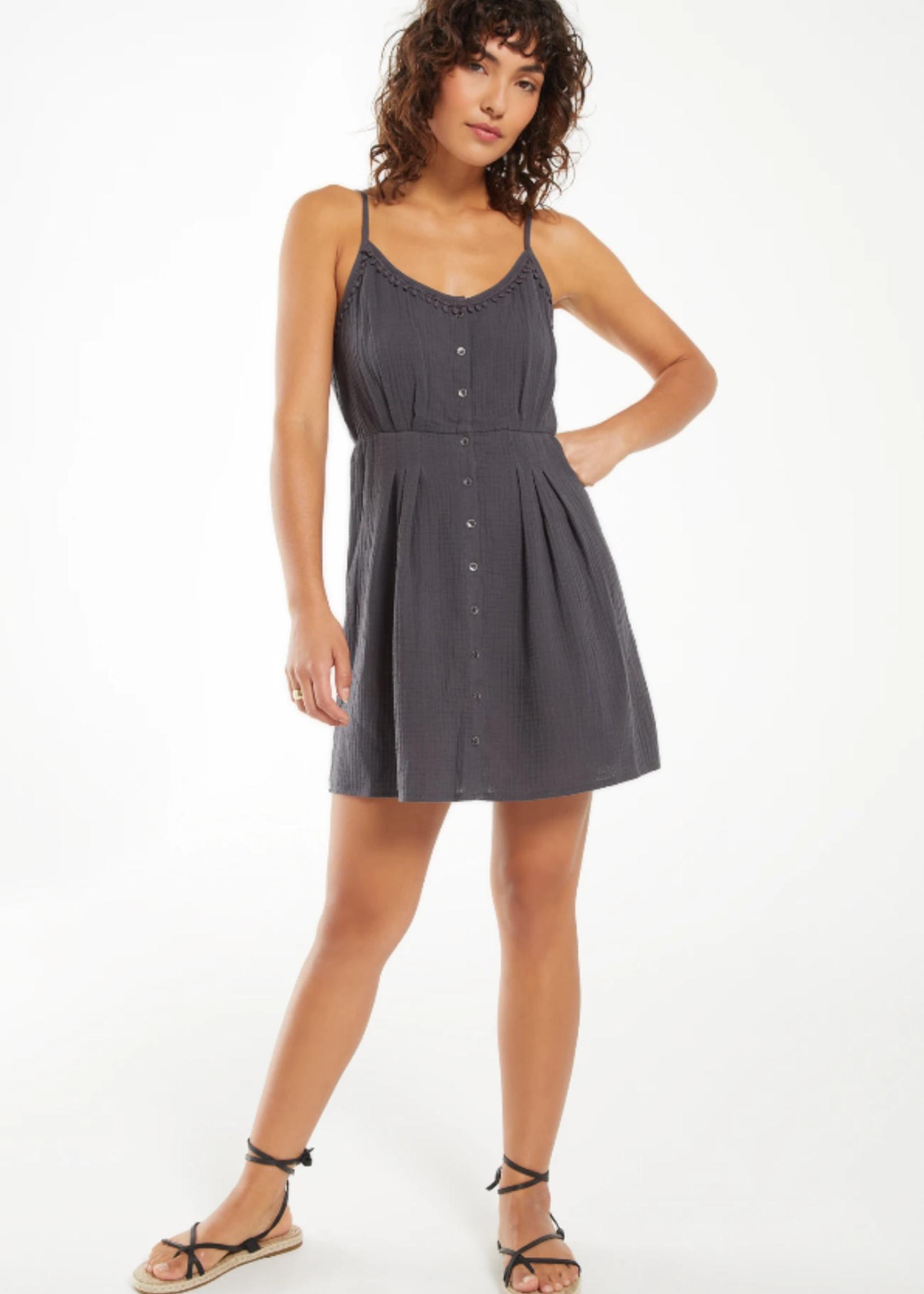 Z Supply Umbra Gauze Dress - Washed Black