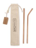 Brumate Stainless Steel Imperial Pink Straws