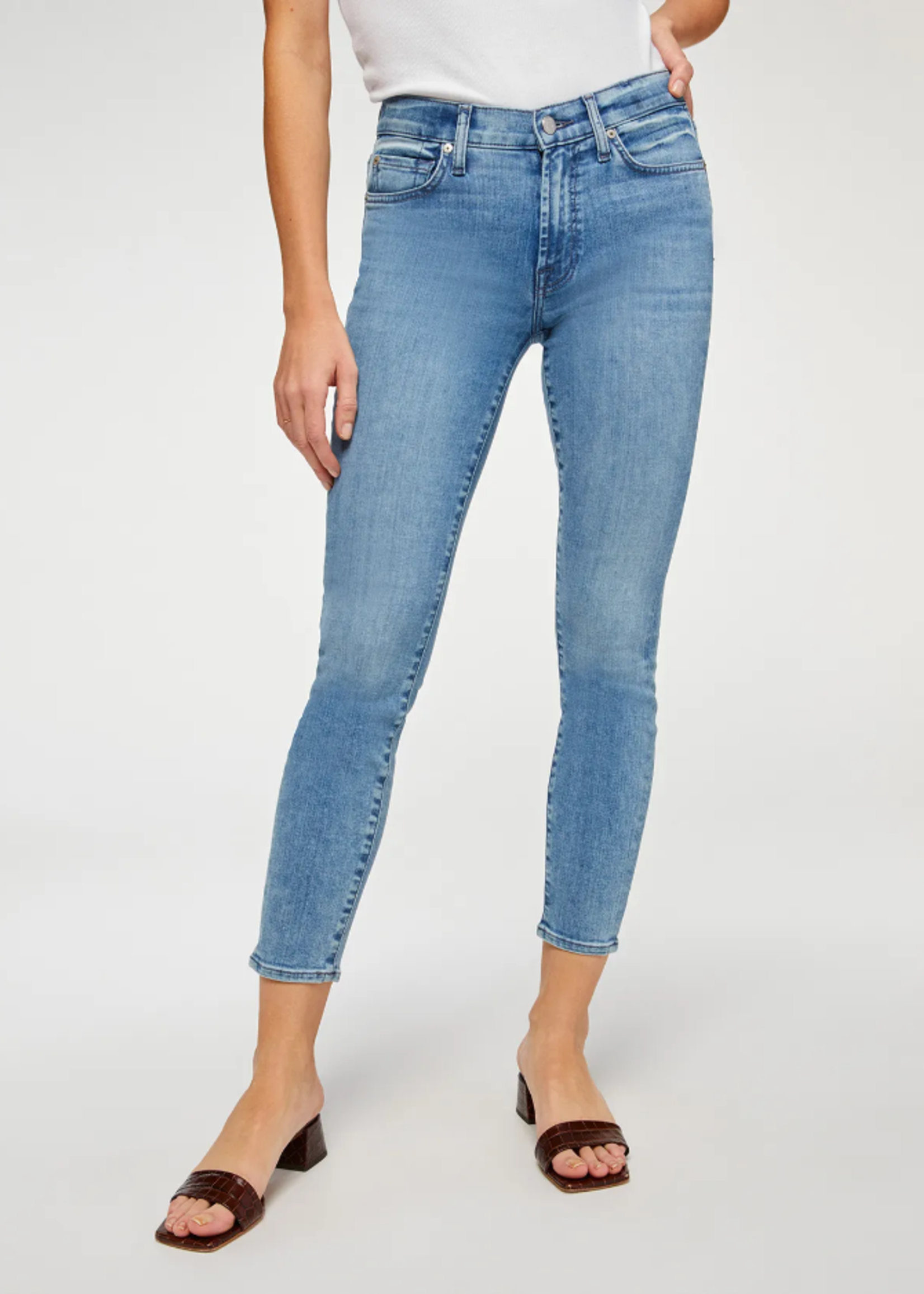 7 for All Mankind Mid Rise Ankle Skinny - Santana