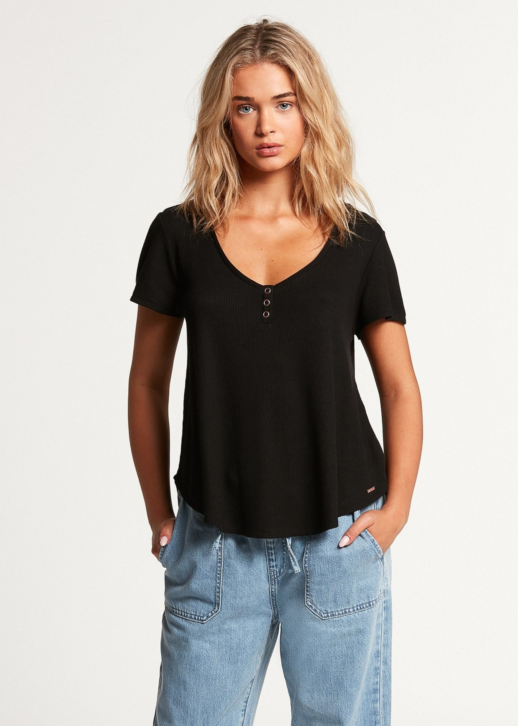 Volcom Lil Thermal Short Sleeve - Black