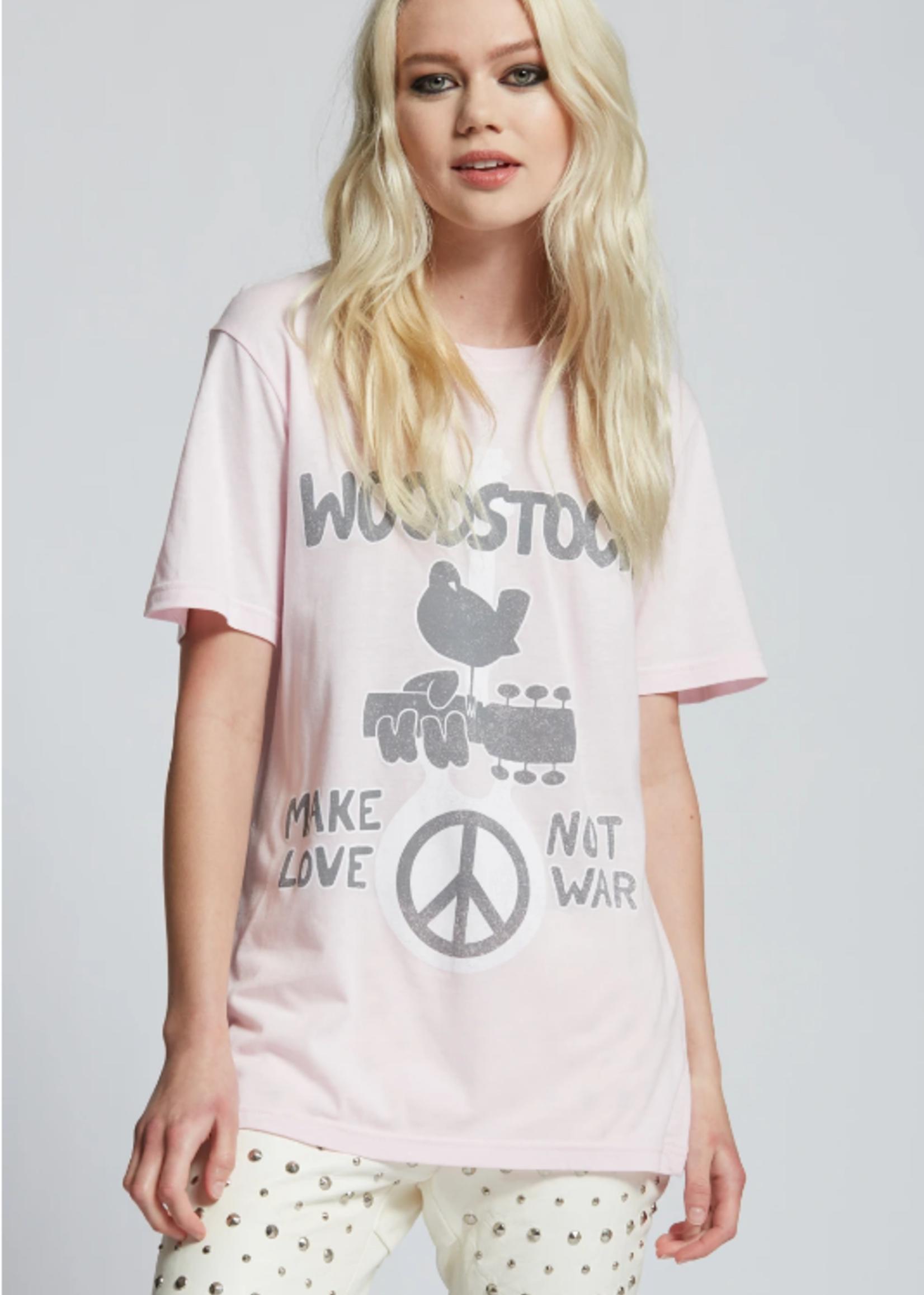 Recycled Karma Woodstock Make Love Not War - Pink