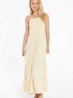 Z Supply Rory Tiered Slub Dress - Washed Yellow