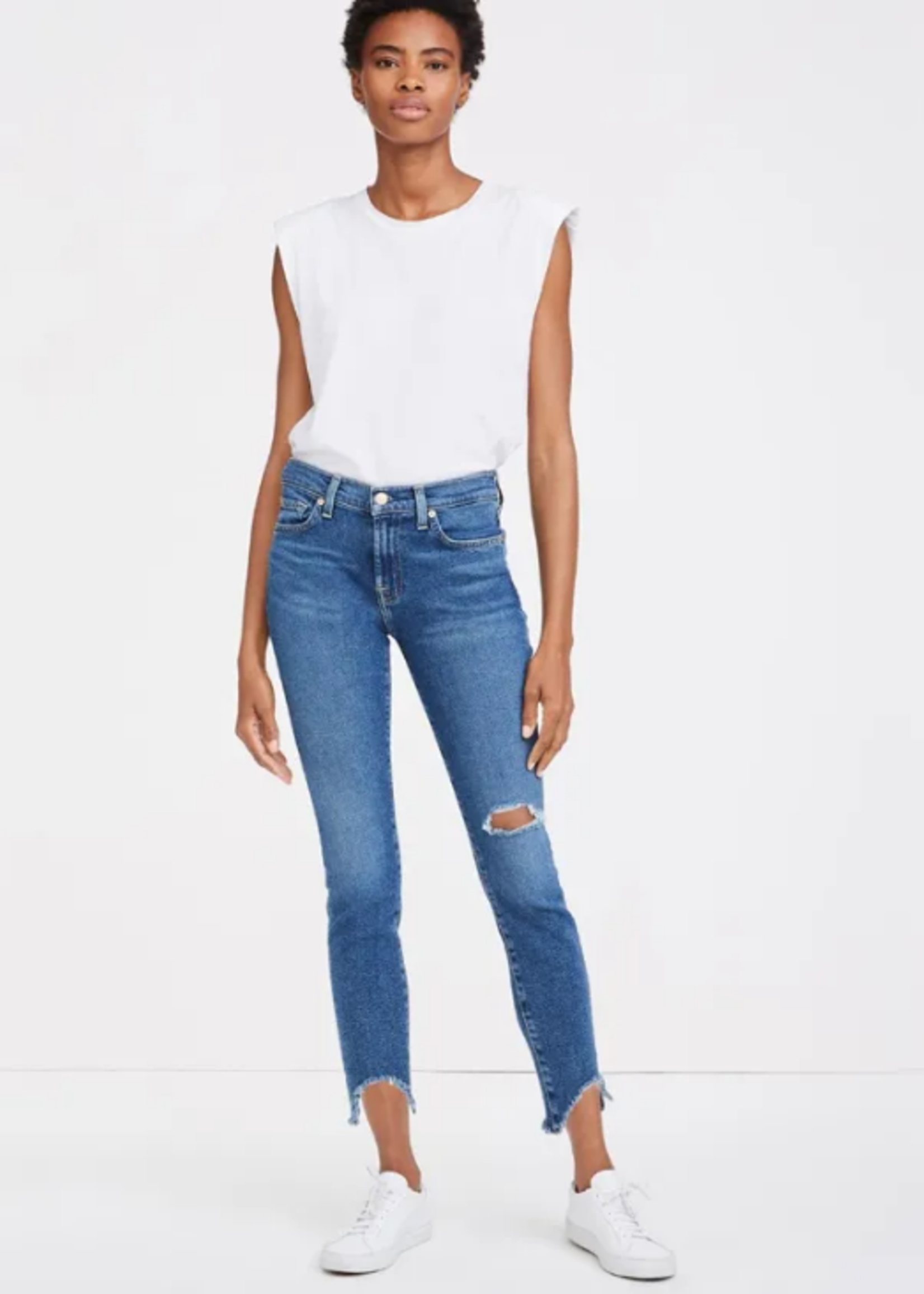 7 for All Mankind Ankle Skinny w/Wave Hem