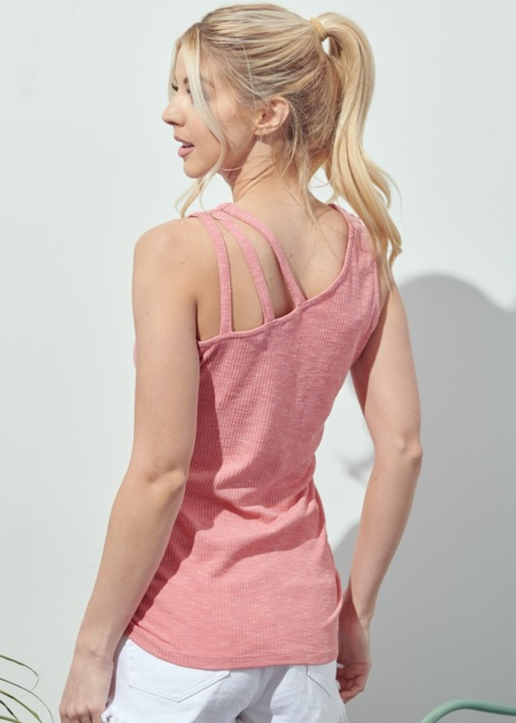 Off One Shoulder Strappy Tank