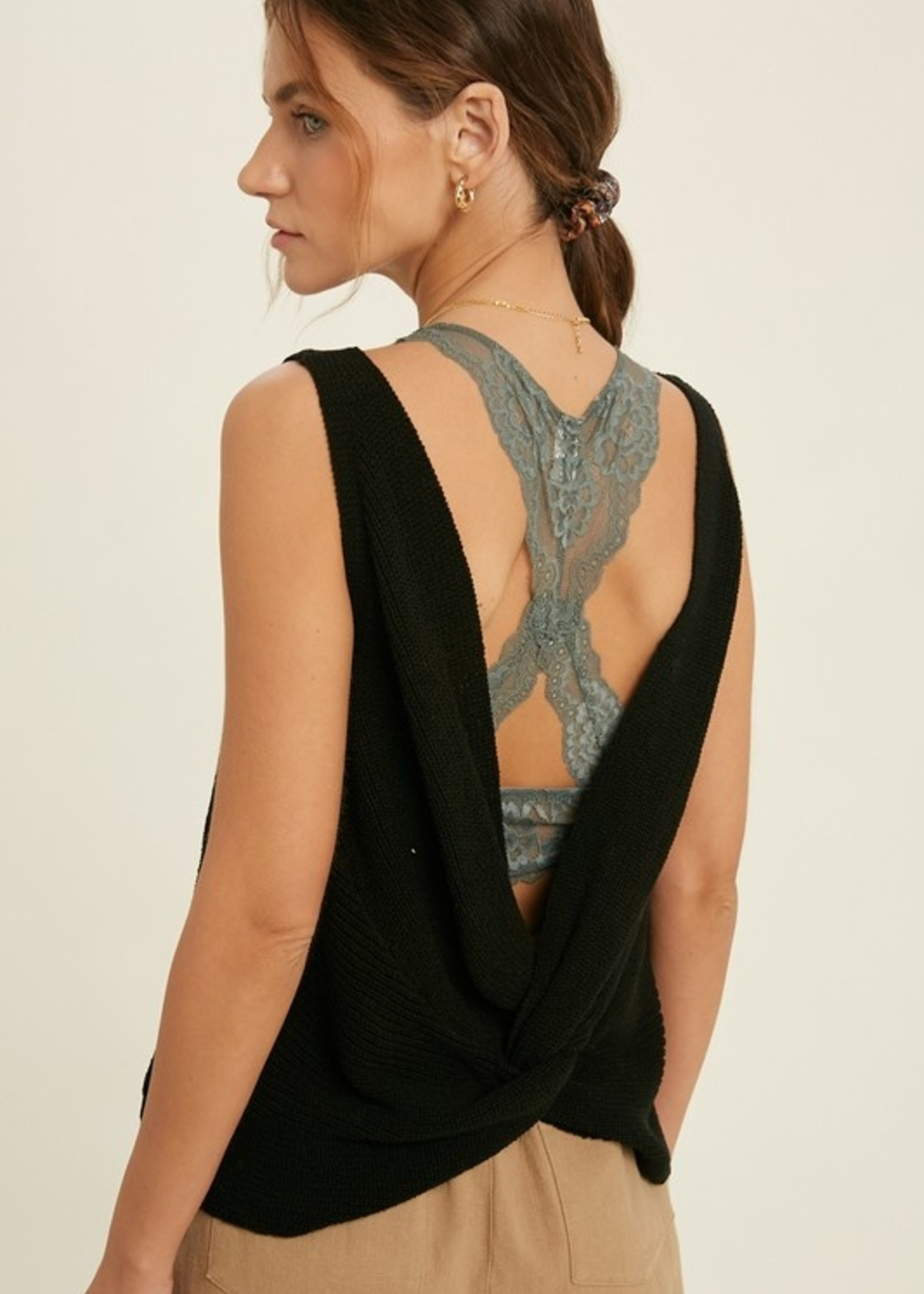 Sweater Tank with Twisted Back