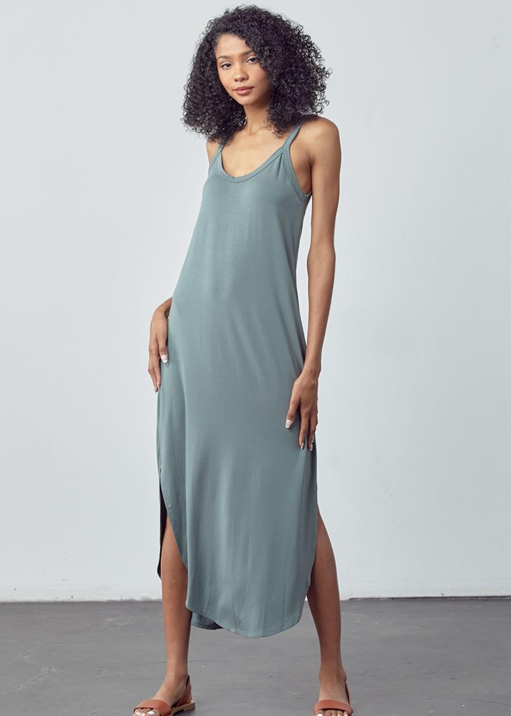 Scoop Neck Maxi Dress - Seafoam