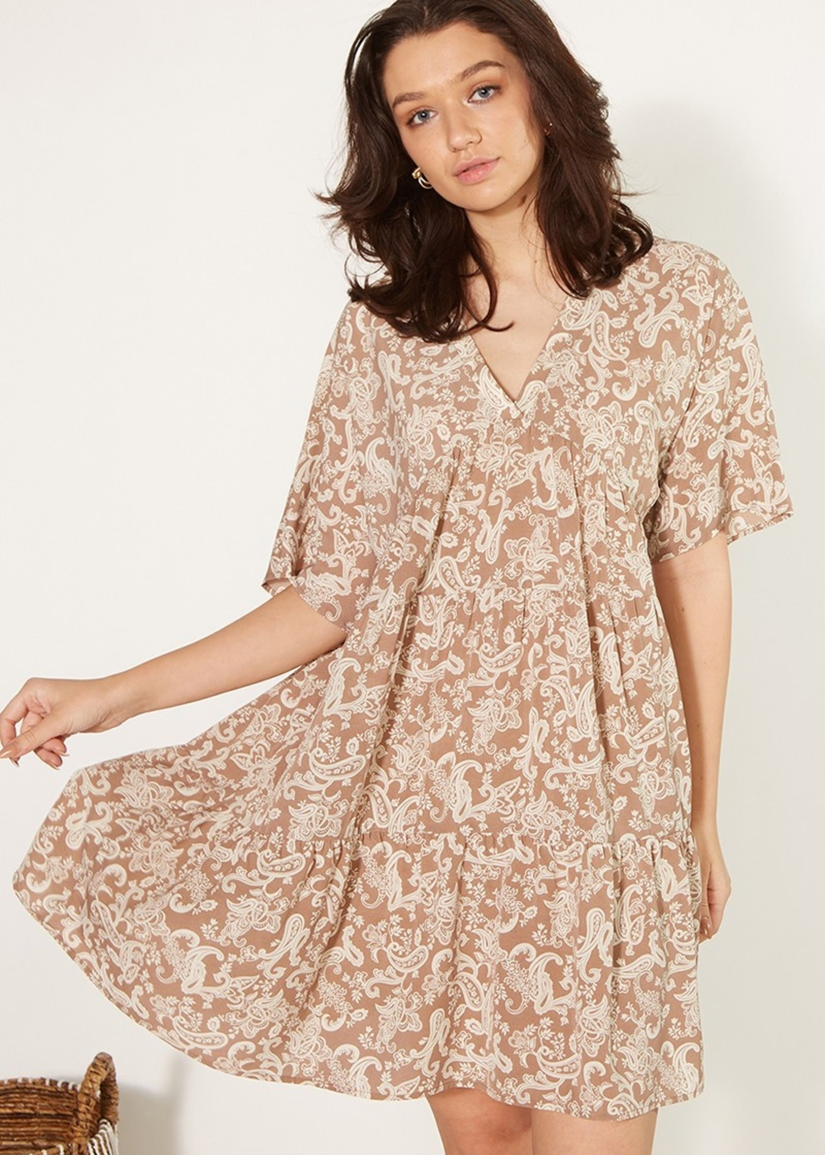 Paisley Print Woven Dress