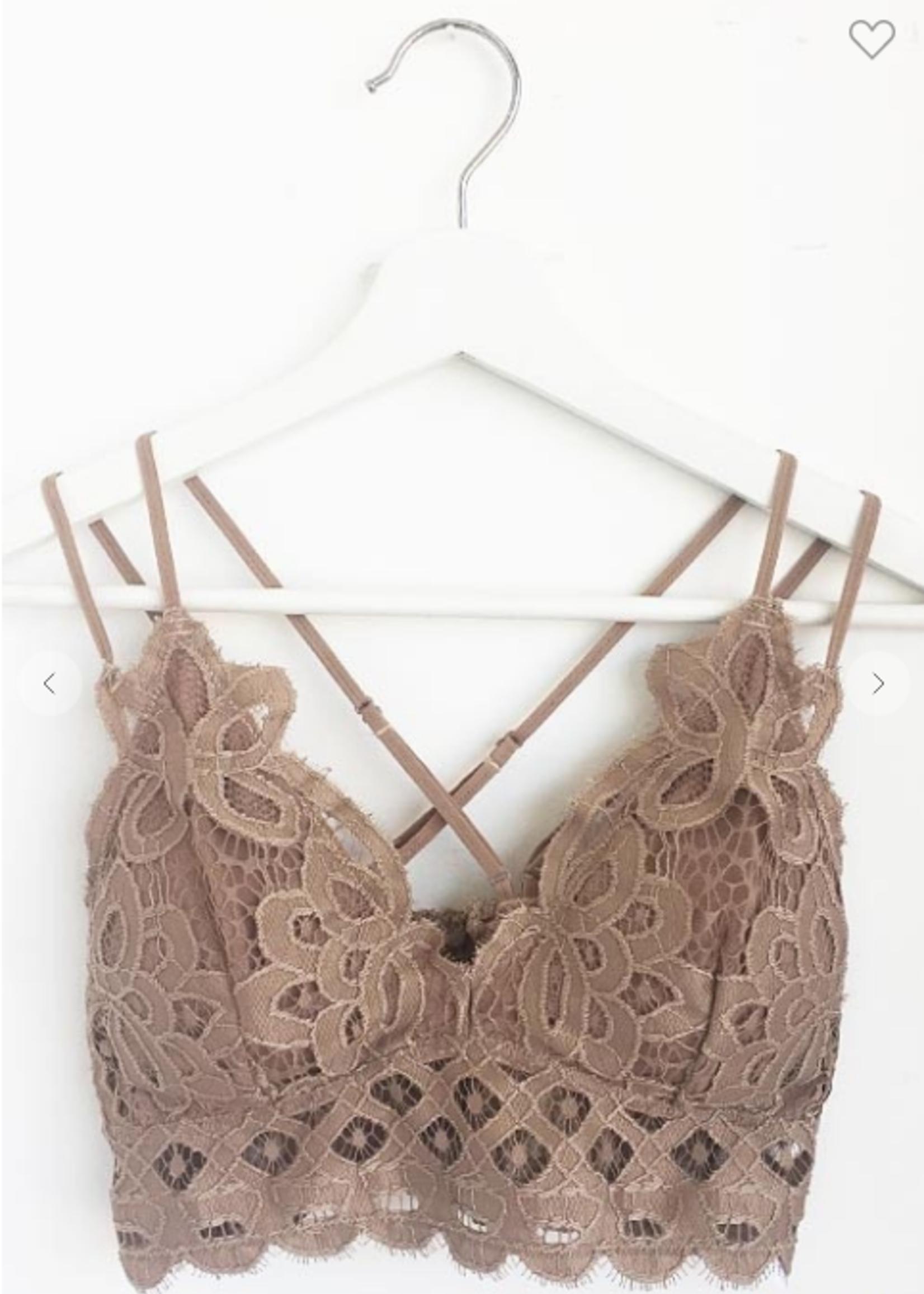 Floral Crochet Padded Bralette