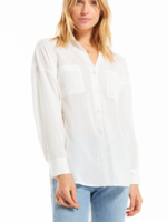 Z Supply Lalo Button Up Top - White