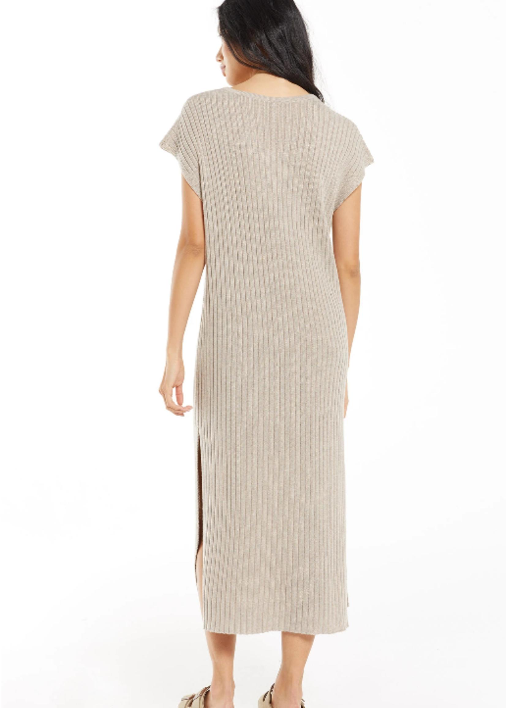 Z Supply WFH Sweater Dress - Heather Latte