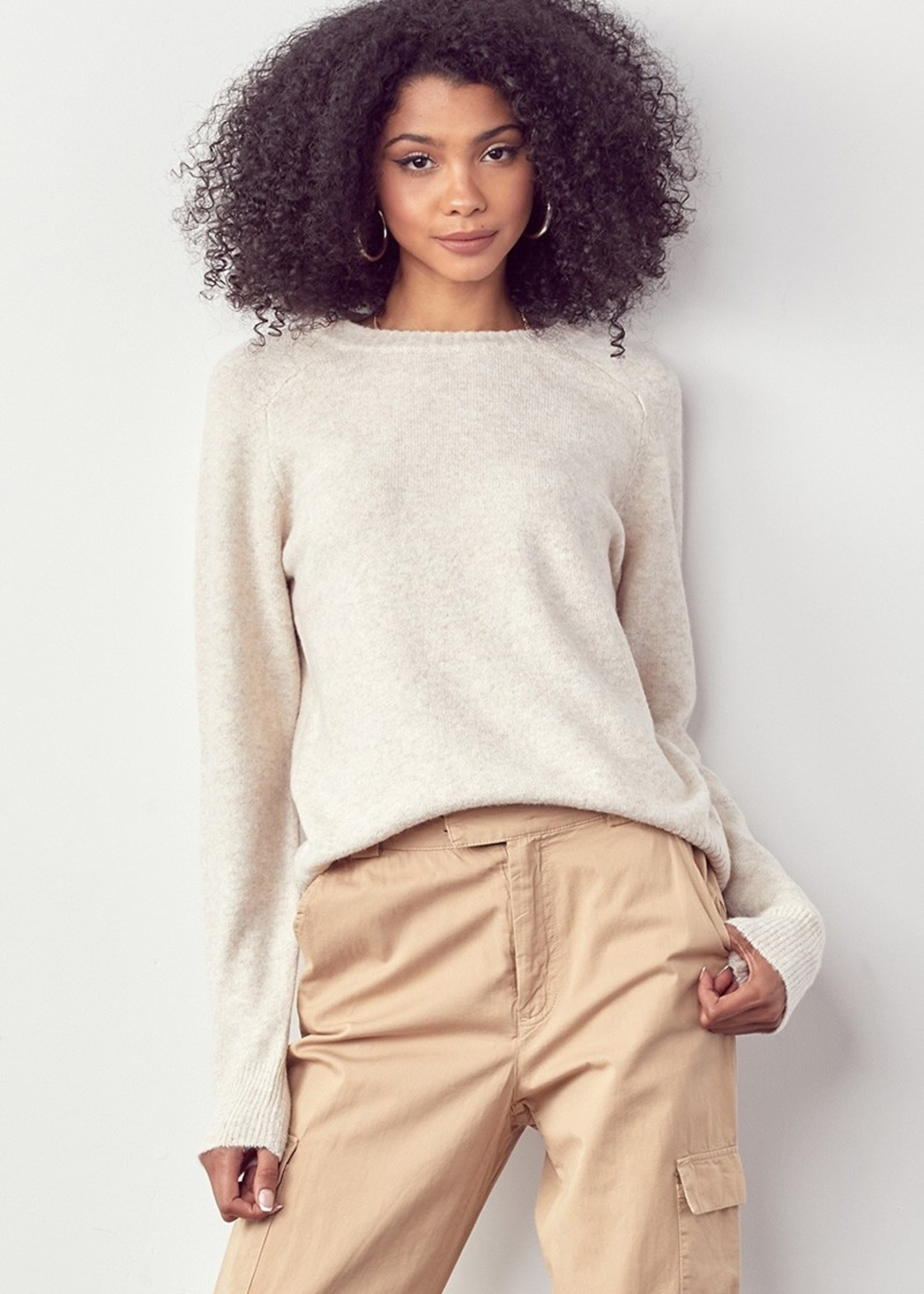 Soft Crewneck Sweater - Oatmeal