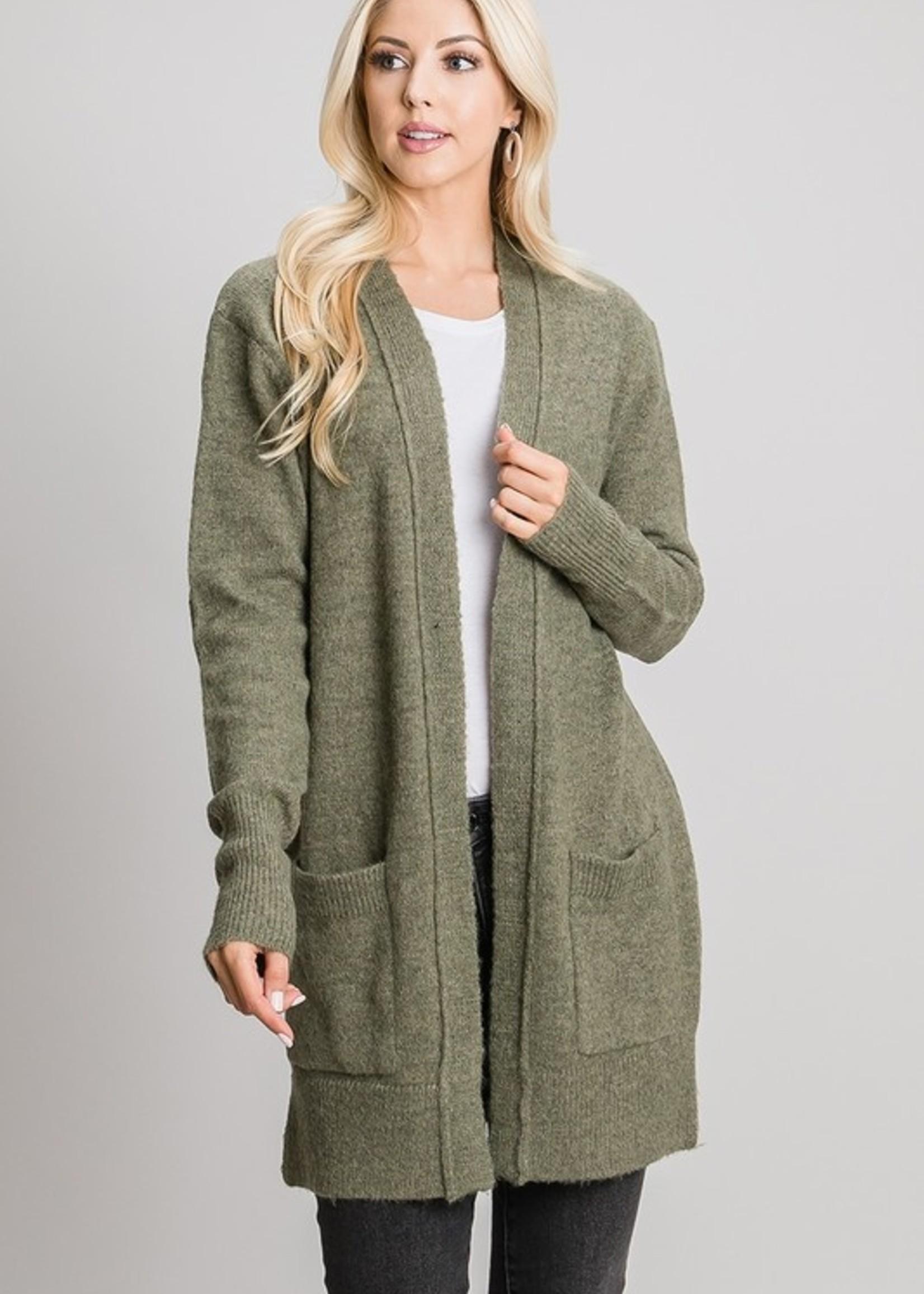 Sweater Cardigan - Olive