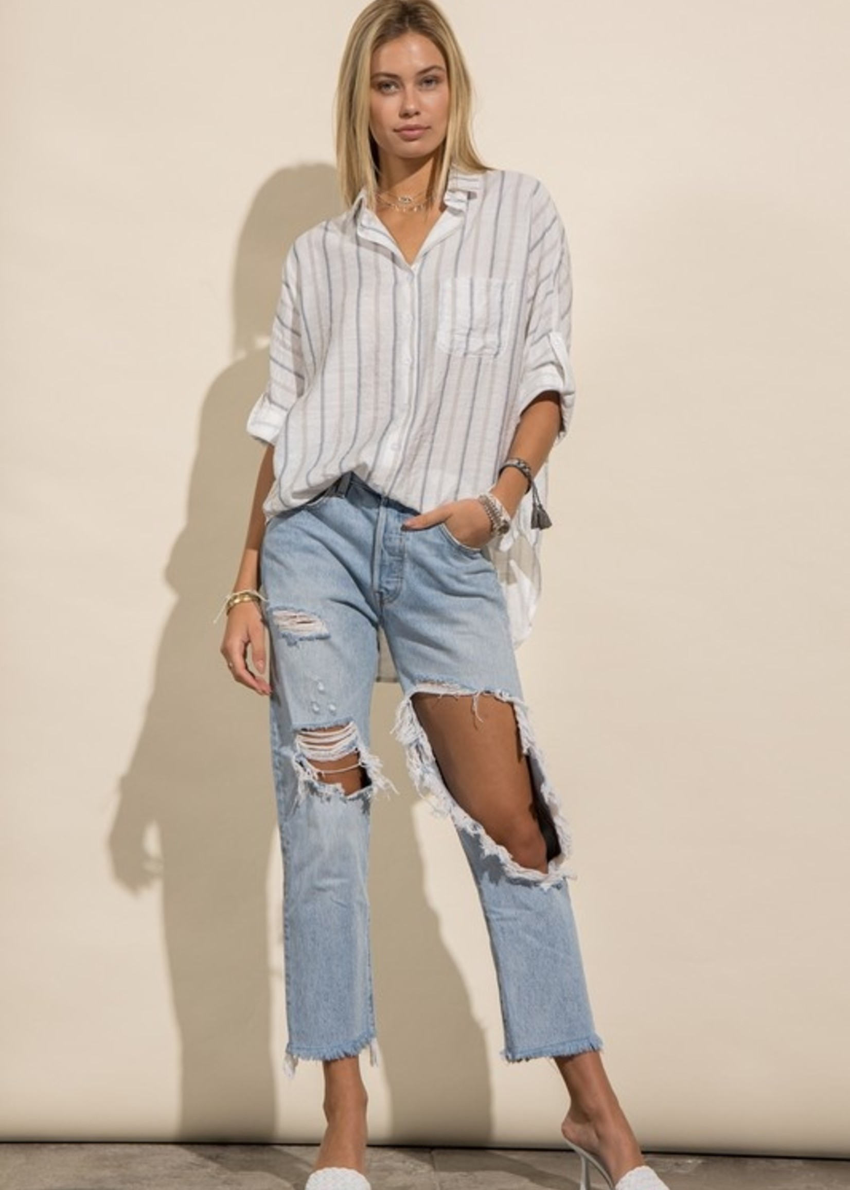 Oversize Stripe Shirt