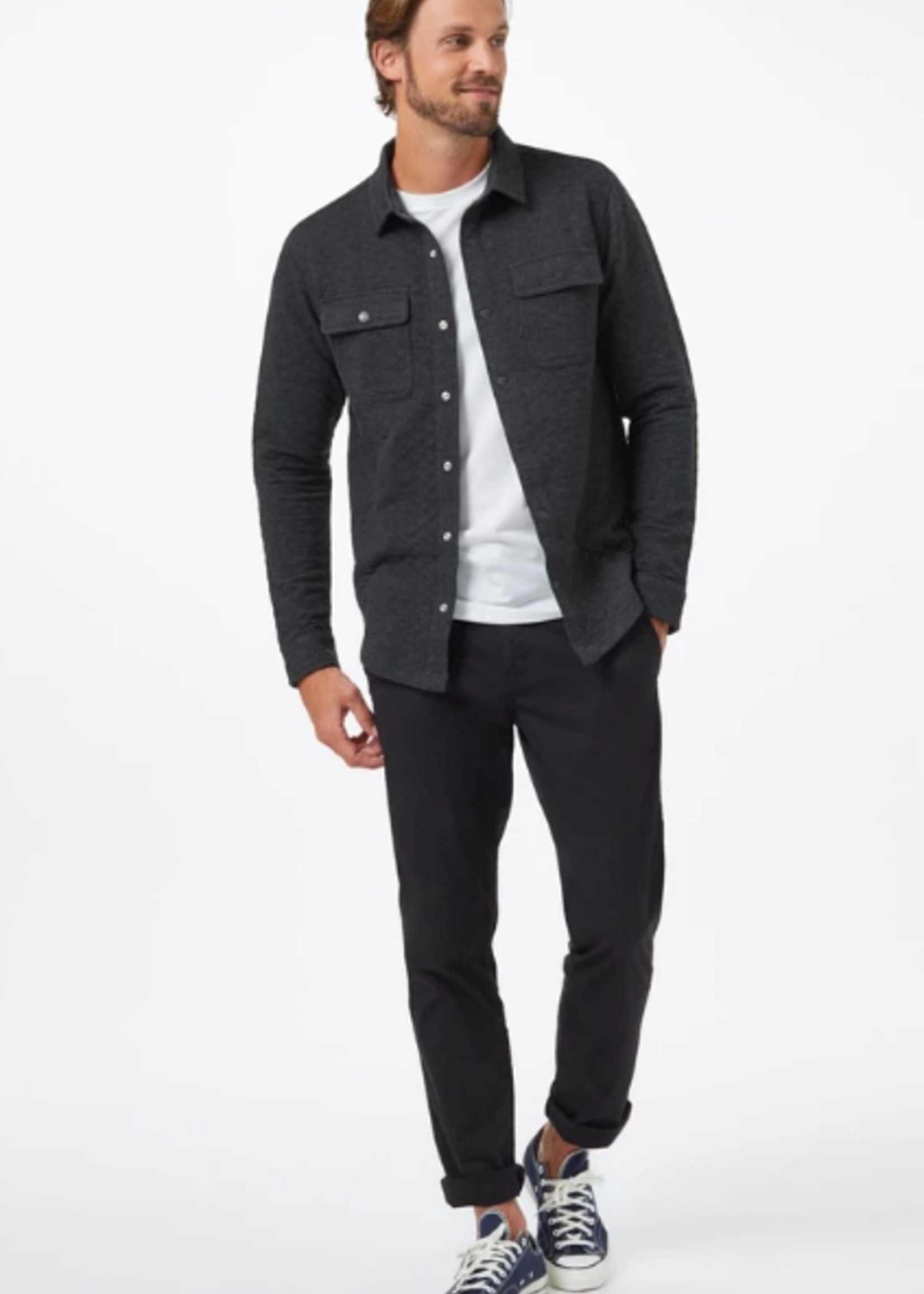 10 Tree Colville Quilted Shirt Jacket - Charcoal