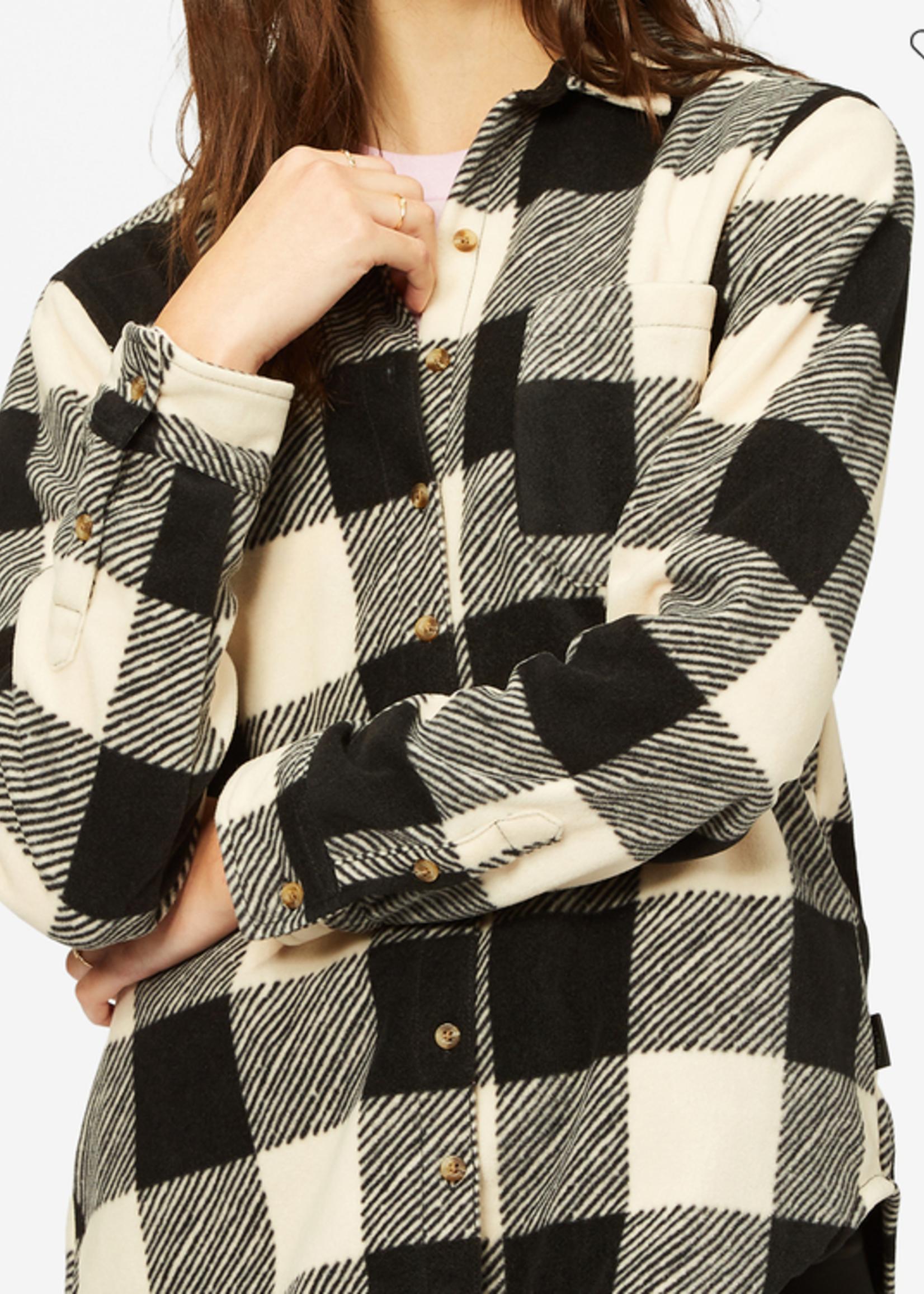 Billabong Forge Flannel Fleece - White/Black