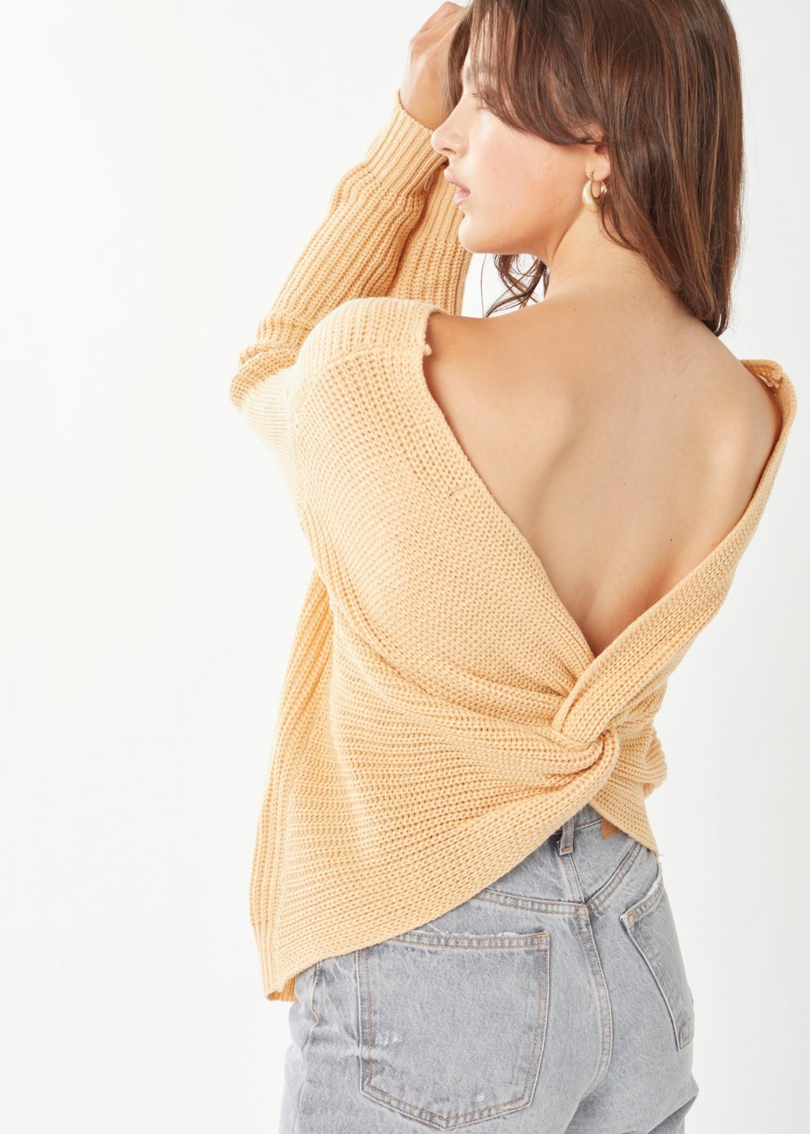 Open Back Sweater - Butter