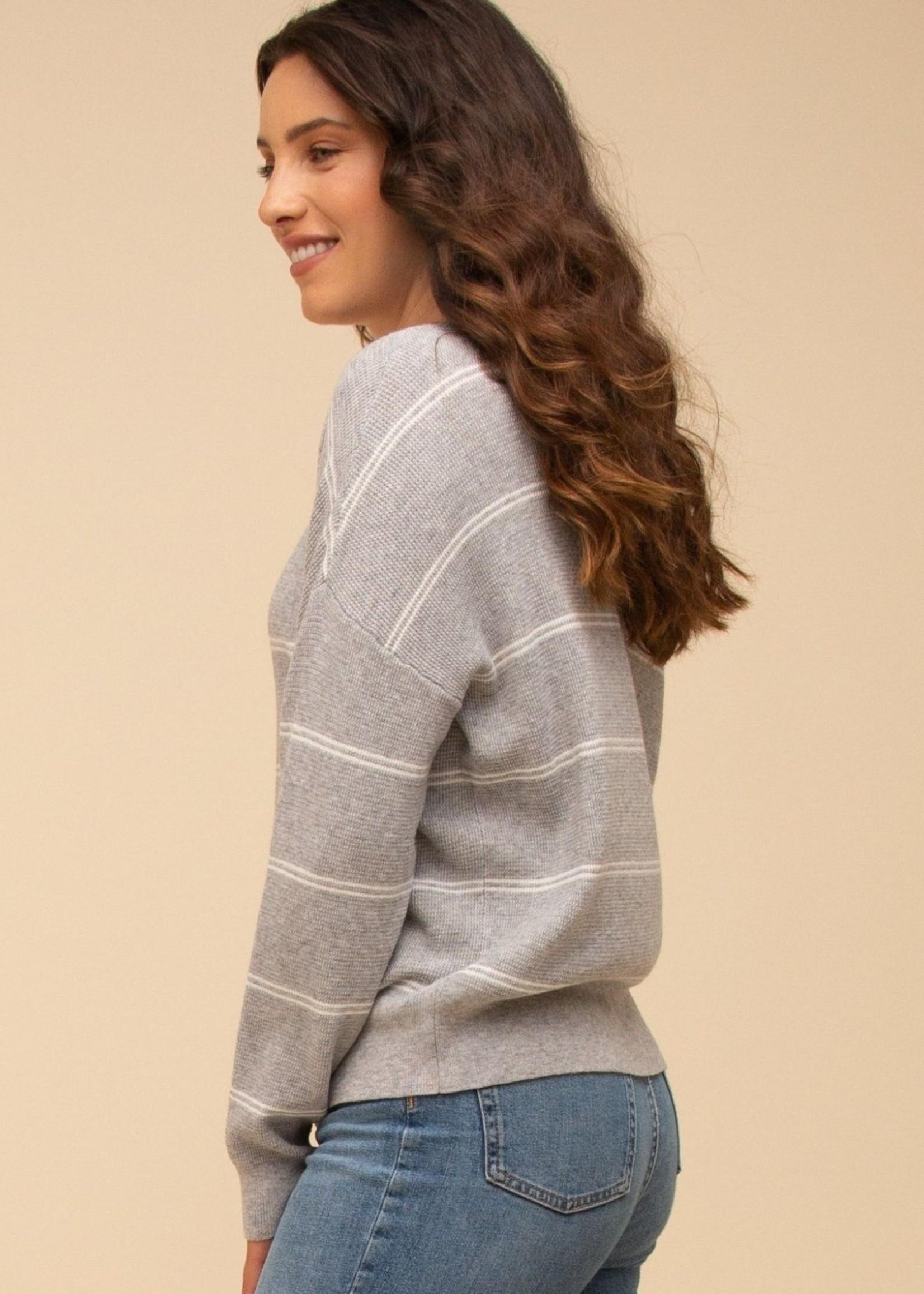 Thread & Supply Jemma Top - Grey/Ivory