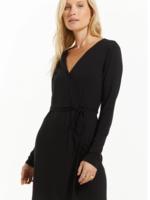 Z Supply Chloe Wrap Mini Dress - Black