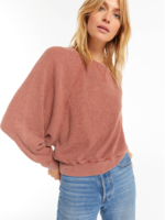 Z Supply Claire Waffle Long Sleeve - Russet