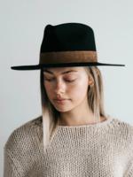 Gigi Pip Miller Hat - Black w/Brown
