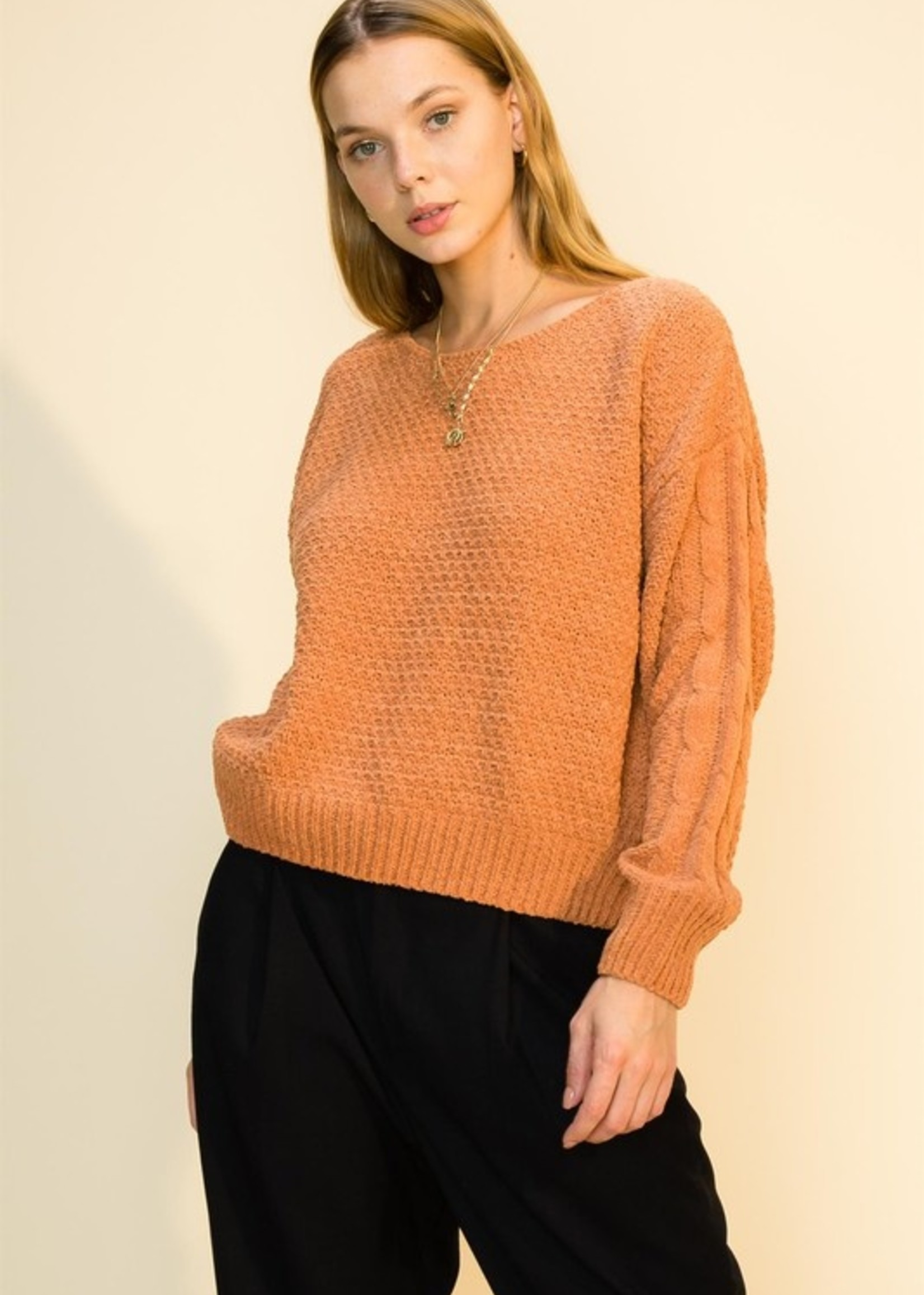 Pullover Knit Sweater - Camel