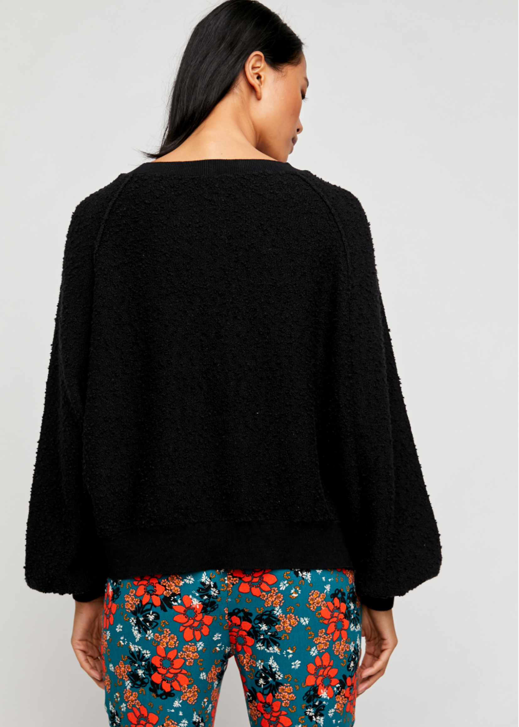 Free People Found My Friend Pullover - Black