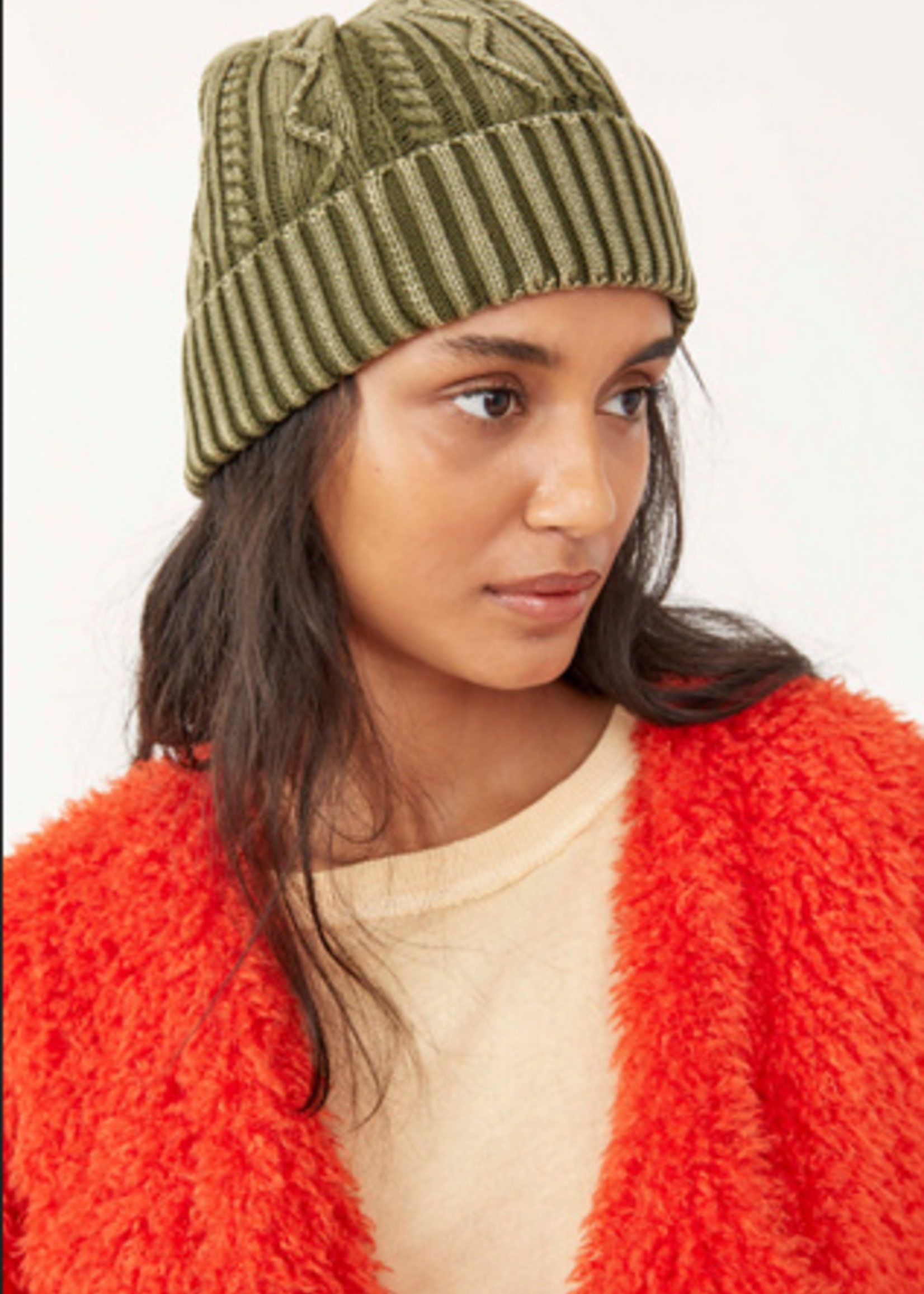 Free People Stormi Washed Cable Beanie