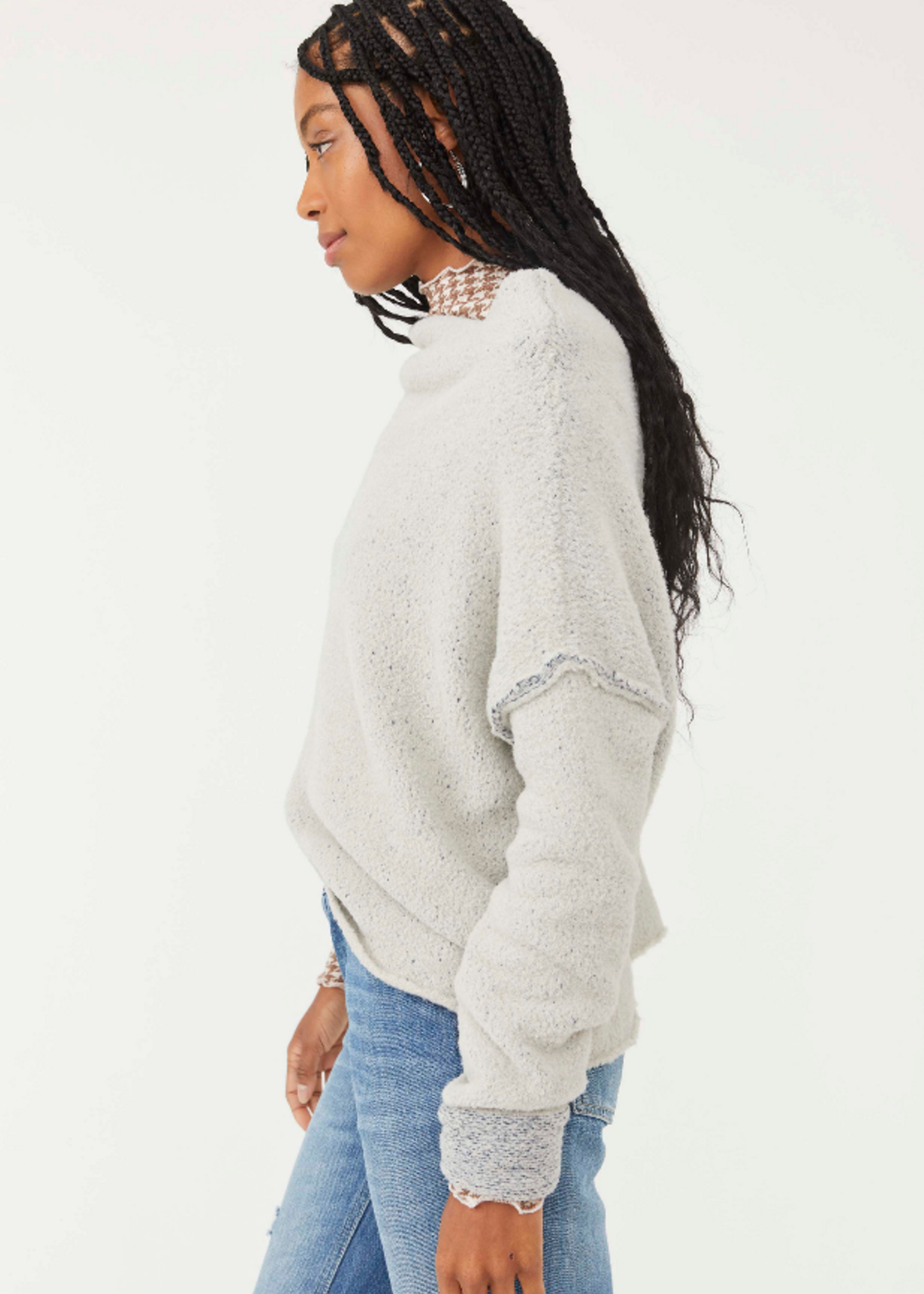 Free People  San Vincente Pullover - Silver Sapphire