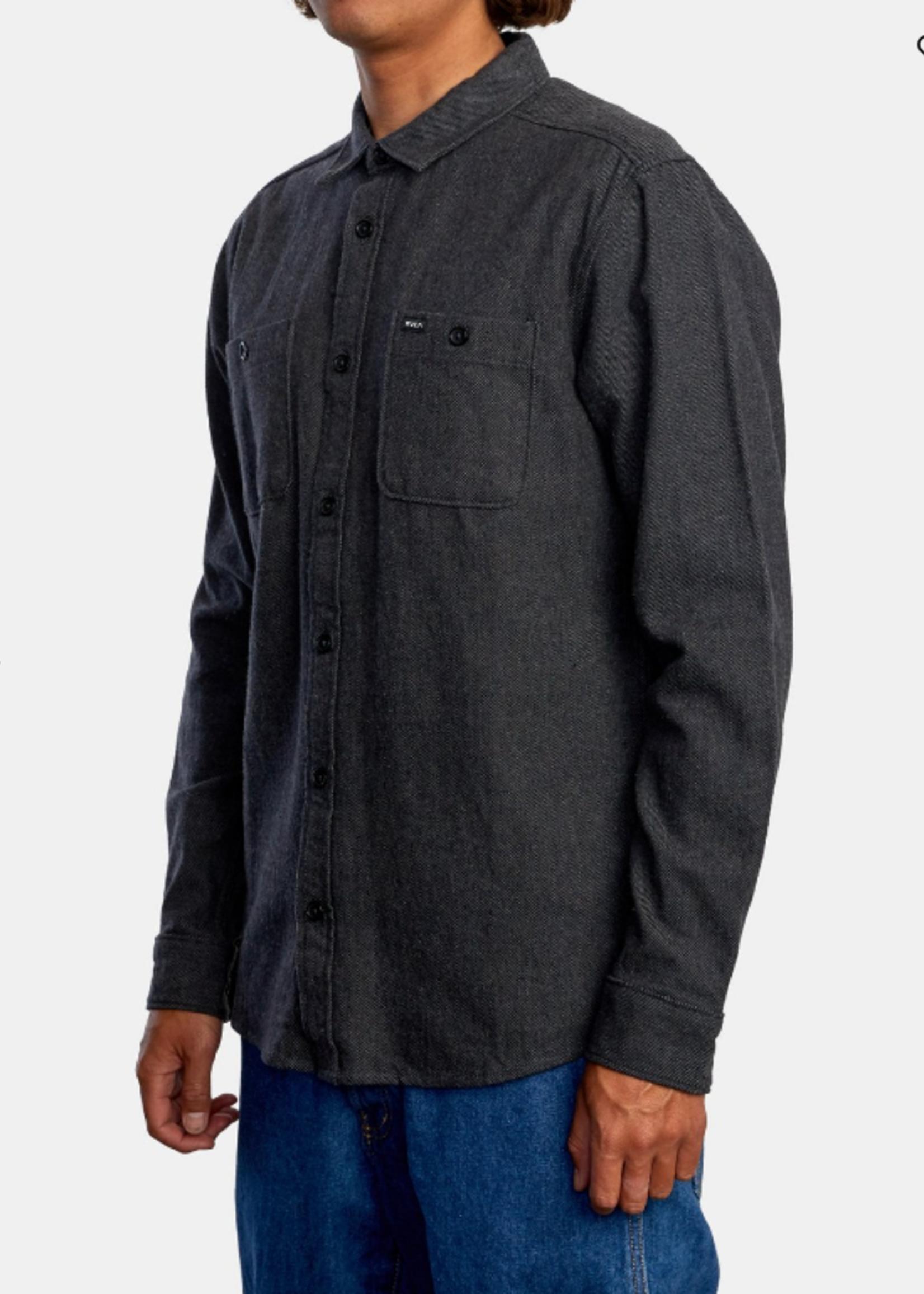 RVCA Harvest Flannel - Dark Grey