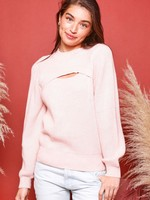 Long Sleeve Sweater with Cutout