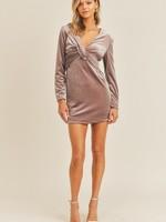 Velvet Mini Dress - Lavender