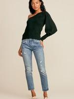 One Shoulder Sweater - Black