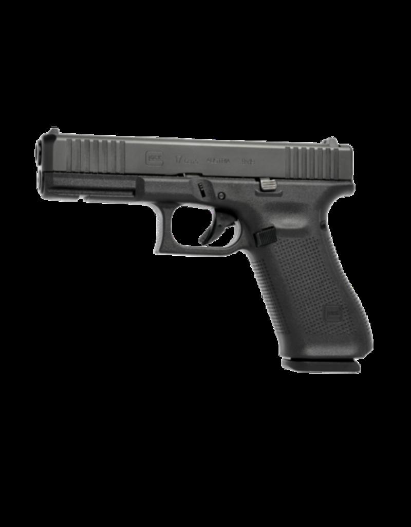 "Glock GLOCK 17 GEN 5, #PA175S202, 9MM,  4.5"", 3 MAGS, FRONT SERRATIONS, FIXED SIGHTS"