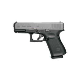 "Glock GLOCK 19 GEN 5, #PA1950302AB, 9MM, 4"", 3 MAGS,  FRONT SERRATIONS, AMERIGLO BOLD NIGHT SIGHTS"