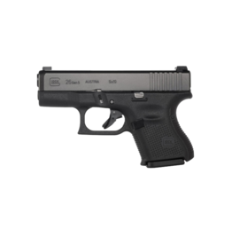 "Glock GLOCK 26 GEN 5, #UA2650302AB, 9MM, 3.5"", 3 MAGS, AMERIGLO BOLD NIGHT SIGHTS"