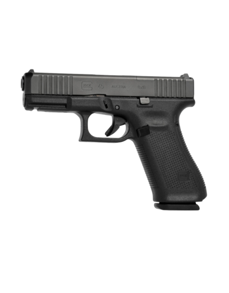 "Glock GLOCK 45 GEN 5 MOS, #PA455S302MOSAB, 9MM, 4.5"", 3 MAGS, FRONT SERRATIONS, AMERIGLO BOLD NIGHT SIGHTS"