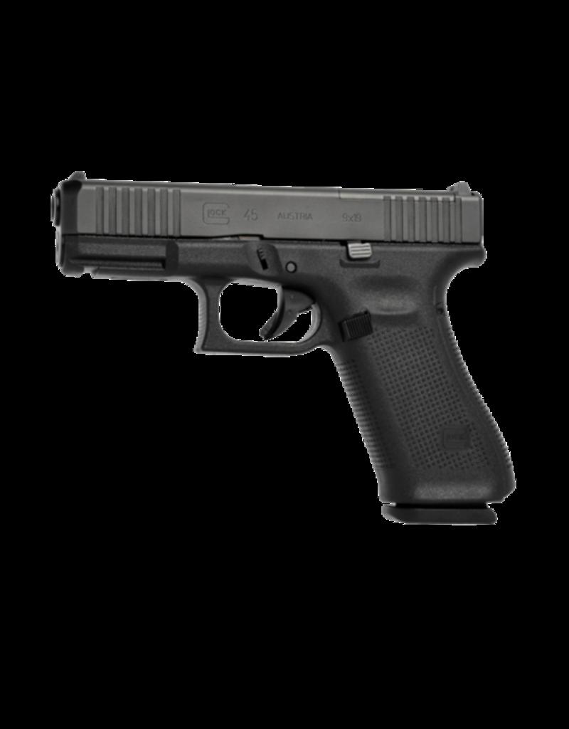 "Glock GLOCK 45 GEN 5 MOS, #PA455S702MOS, 9MM, 4.5"", 3 MAGS, FRONT SERRATIONS, GLOCK NIGHT SIGHTS"